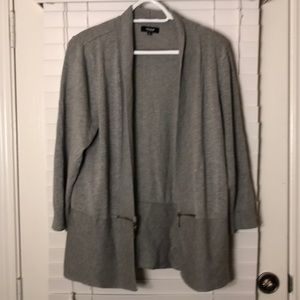 Premise Grey Sweater with Zipper Accents & Details